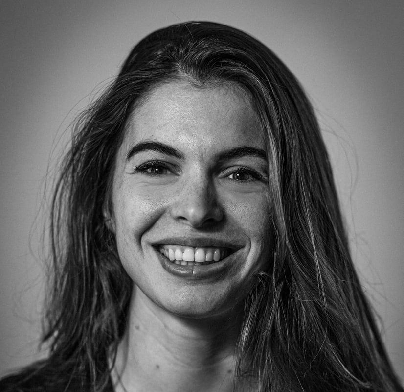'Zwart-wit foto van Lieke'