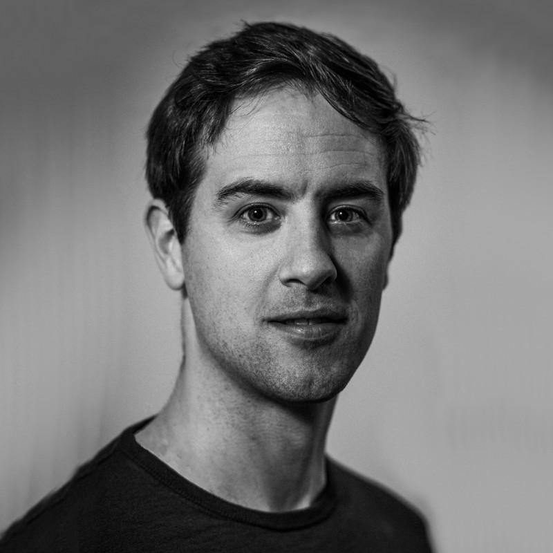'Zwart-wit foto van Mike'