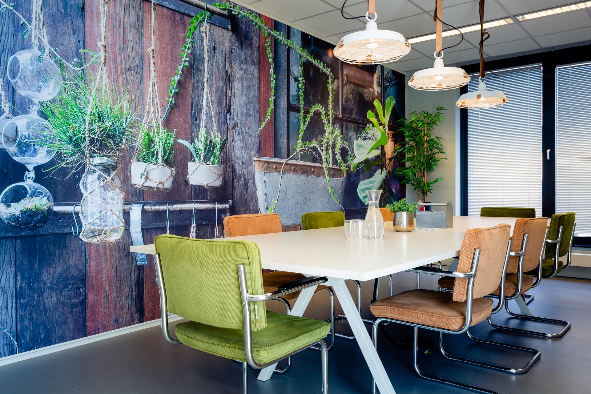 'Impressie van een meeting kamer bij Vantage AI'