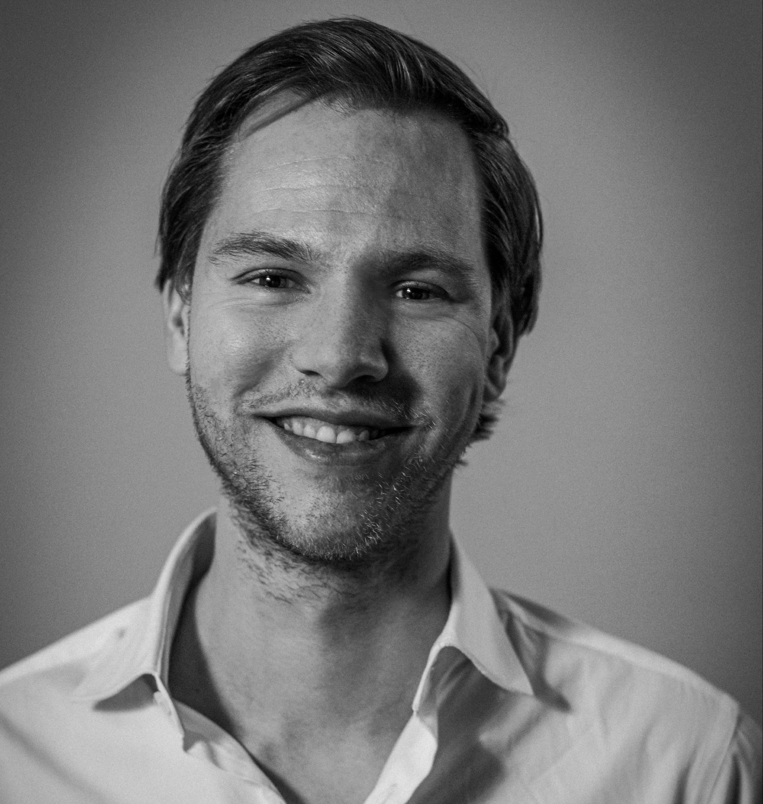 'Zwart-wit foto van Maarten'