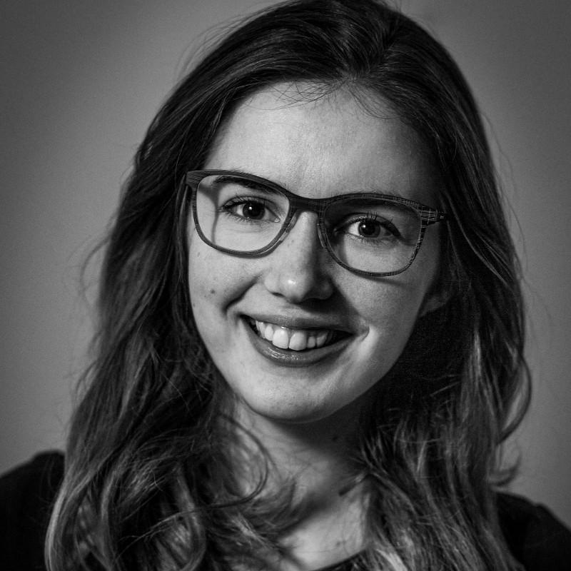 'Zwart-wit foto van Annelies'